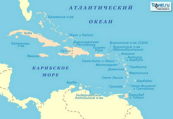Карибское море где находятся